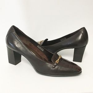 Etienne Aigner heels guinevere brown heels Sz 8